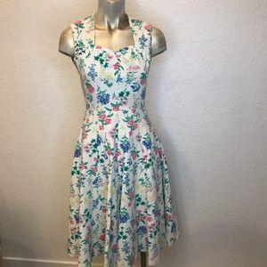 Vintage 50's Style Floral Dress